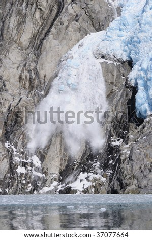 Northwestern Glacier calving, Kenai Fjords National Park, Seward, Alaska