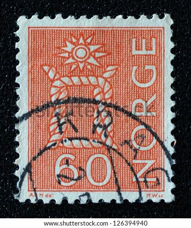 NORWAY - CIRCA 1964: A stamp printed in the Norway, shows Boatswain's knot, circa 1964
