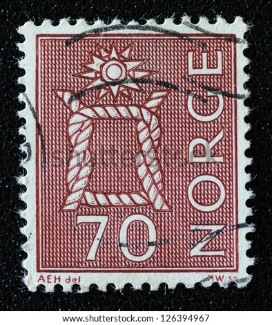 NORWAY - CIRCA 1970: A stamp printed in the Norway, shows Boatswain's knot, circa 1970