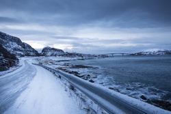 Norway in winter - trip to the island Kvaloya (Tromso)
