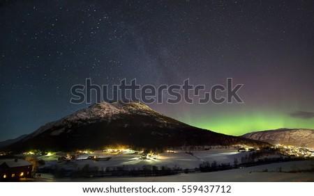 Norway. Night sky  #559437712