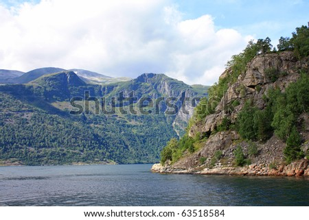 Norway sea and mountain