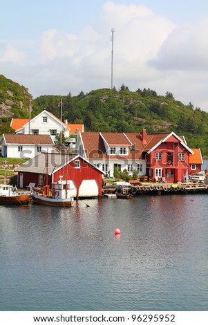 Norway - Skjernoy island in the region of Vest-Agder. Small fishing town - Farestad.