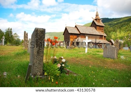 Norway typical church, stavkirke.
