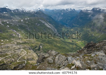 Norway, wild country with fjords - stock photo