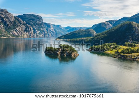 norwegian fjord and mountains...