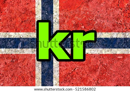 Free Photos Norwegian Krone Symbol Over Norway Flag Background
