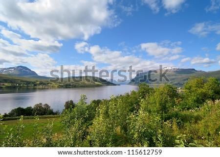 Norwegian mountain landscape - Islands in northern Norway