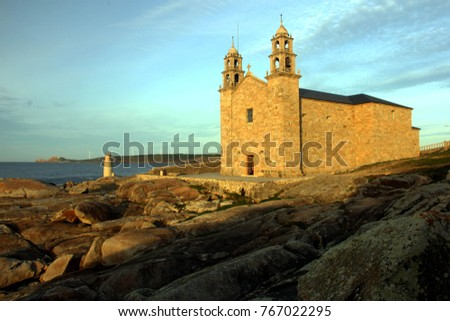 Nosa Senora of Barca Church, Muxia, Spain Zdjęcia stock ©