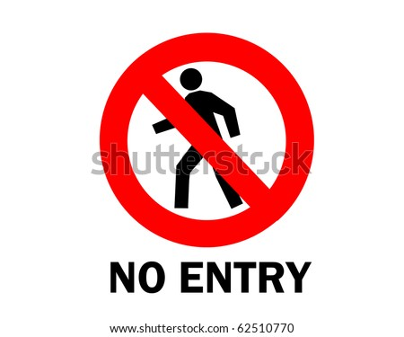 Not allowed, No entry sign isolated on white - stock photo