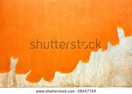 not finish orange painted wall