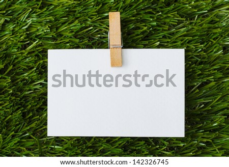 Note in green grass
