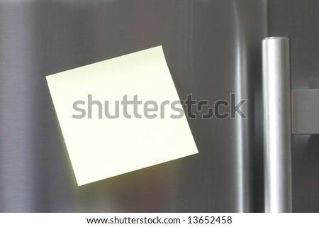 Note on the fridge - stock photo