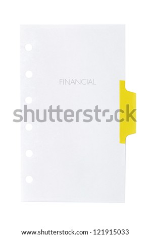 Note on white background