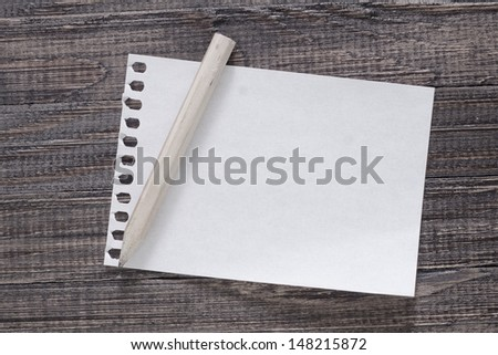 note on wooden board