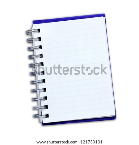 note paper isolated on a white background