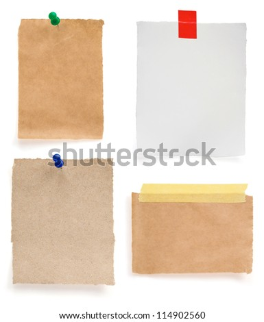 note paper isolated on white background