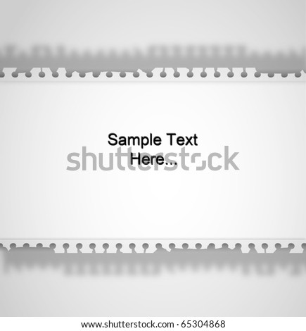 Note Paper Ripped off on isolated white background for sample text and design