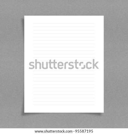 note paper with line on board background