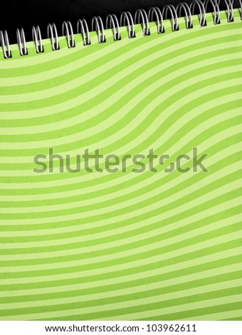 note with wave pattern