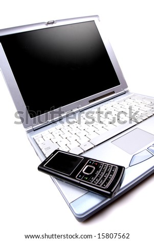 notebook and a mobile