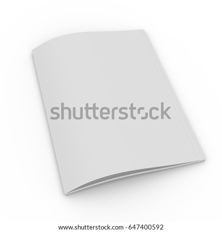 Notebook cover on a white background. 3D rendering