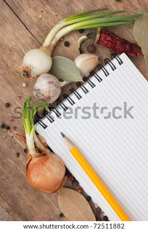 notebook for recipes and spices ...