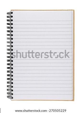 Notebook isolated on white background #270505229