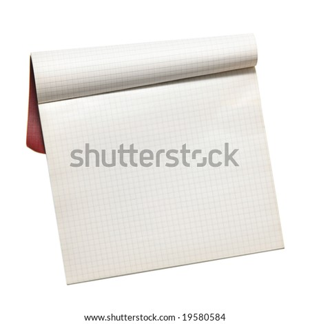 Notebook isolated over white background