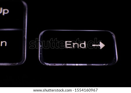 Notebook keyboard end key with illuminated keys #1554160967
