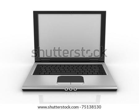notebook, laptop, netbook isolated on white background 3d illustration