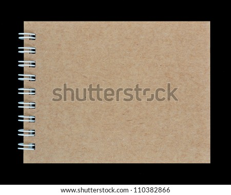 notebook on a black background