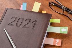 Notebook on a desk 2021