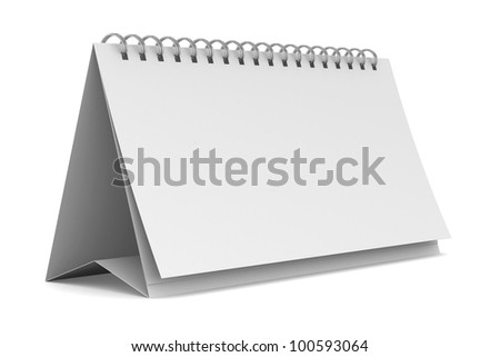Notebook on white background. Isolated 3D image