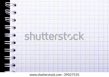 notebook page close up background - stock photo