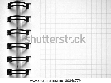 notebook page with grid