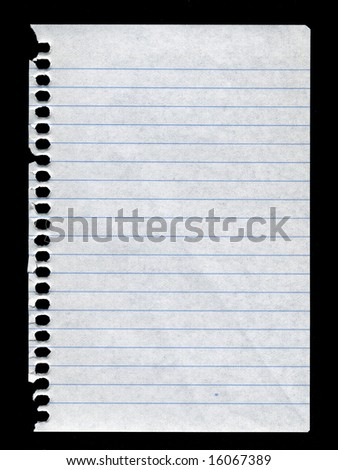 notebook paper - stock photo