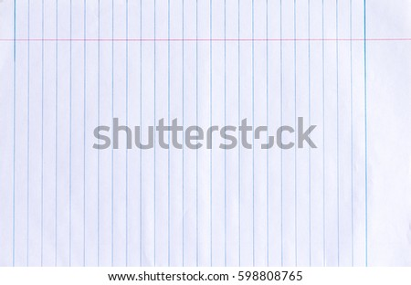 Notebook Paper Background #598808765