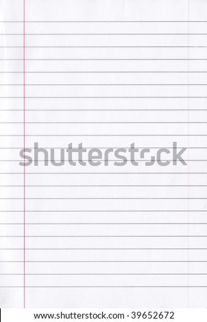 Notebook paper page with lines