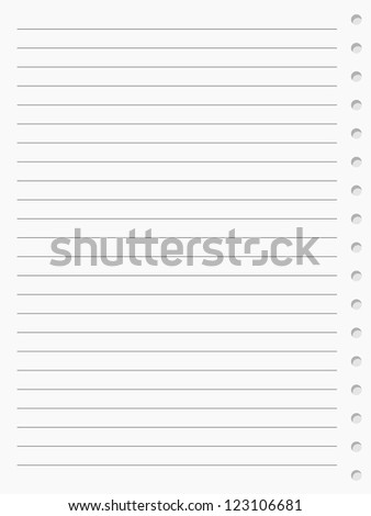 notebook paper sheet. Raster version