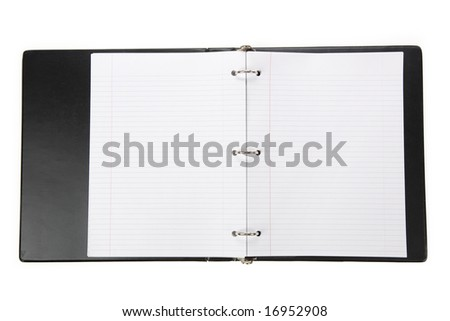 Notebook, Ring Binder, with white background