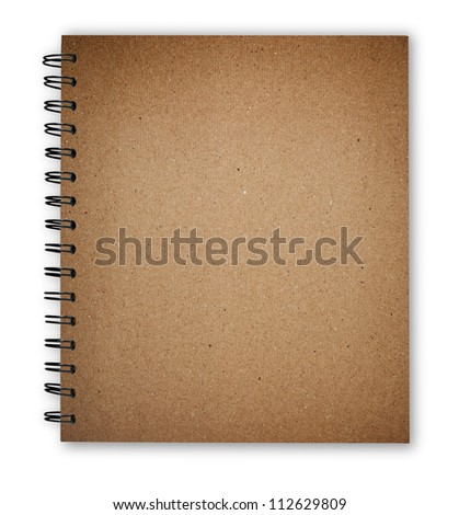 notebook texture cover isolate with clipping path
