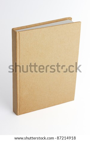Notebook with a blank cover to fill with an image.