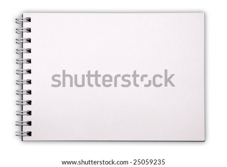 stock photo : notepad isolated on white background with clipping path