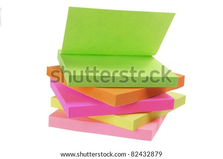 Notepads on Isolated White Background