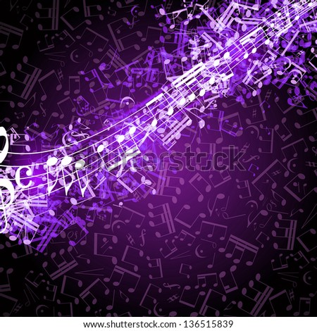 Notes Musical Background Stock Photo 136515839 : Shutterstock
