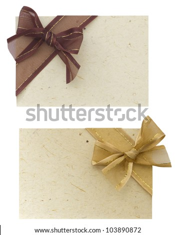 notes with bows
