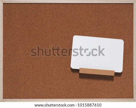 Notice board and memo board