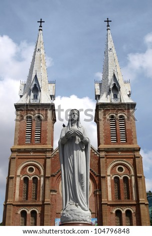 Notre Dam cathedral in Ho Chi Minh city