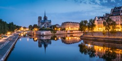 Notre Dame and Ile de la Cite in Paris, France